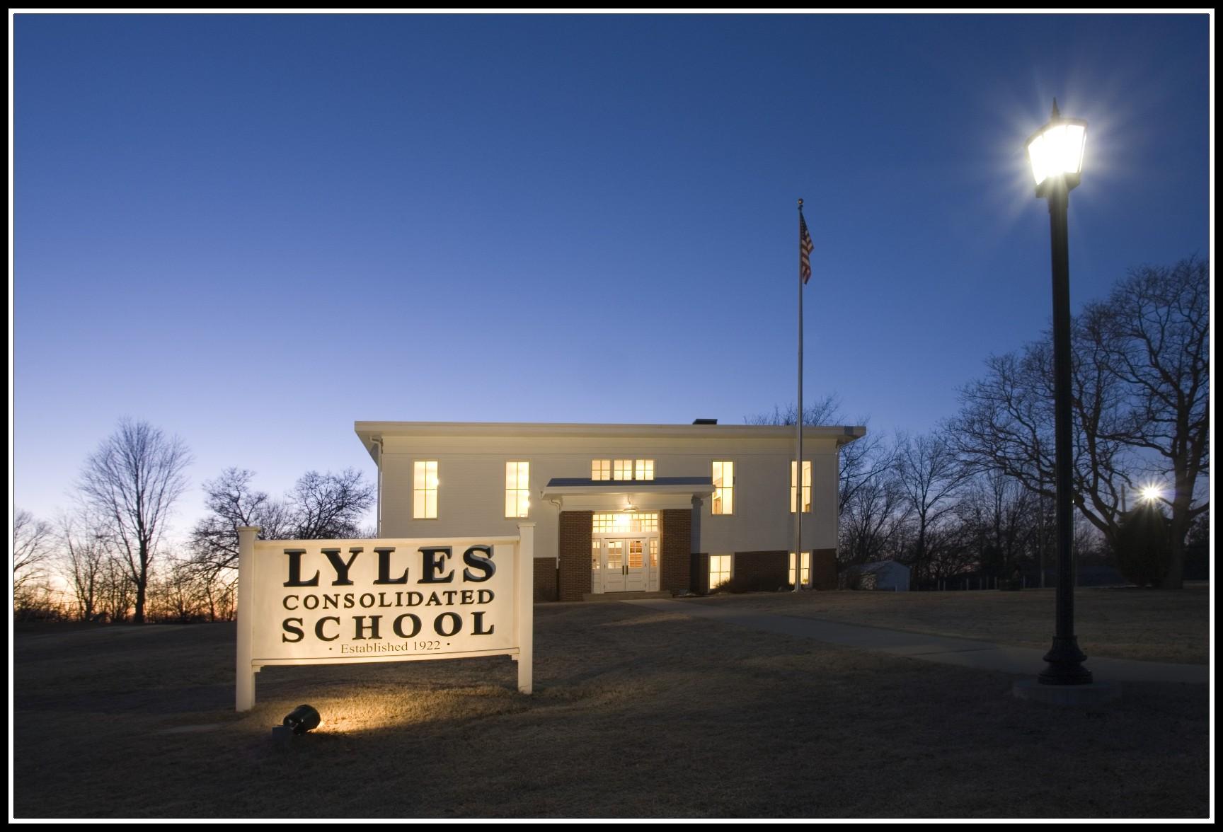 school dusk border