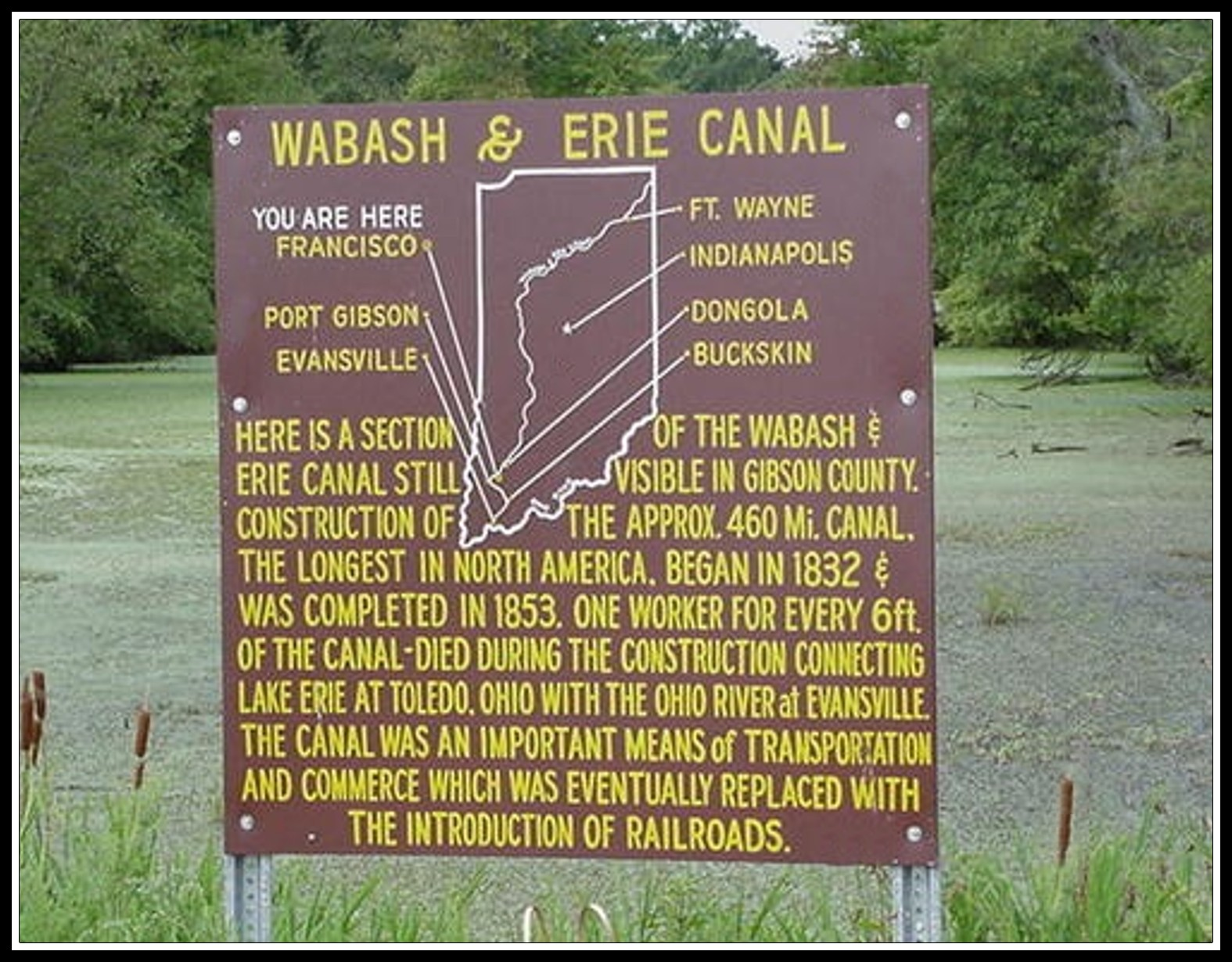 wabash Erie Canal with border